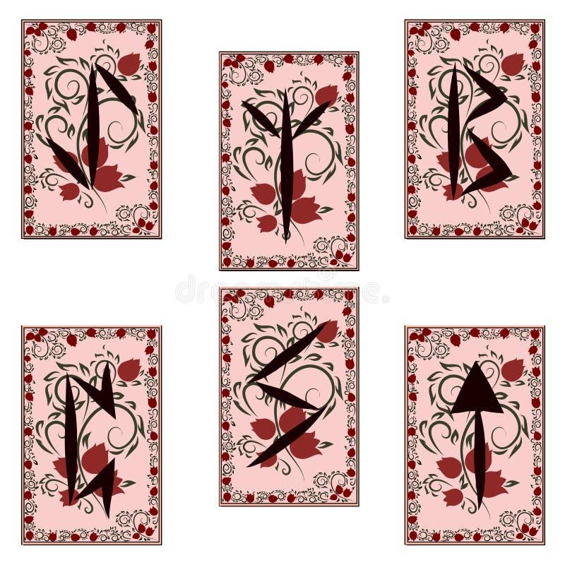 Runen- karakters Kleurendeel 3 vector illustratie