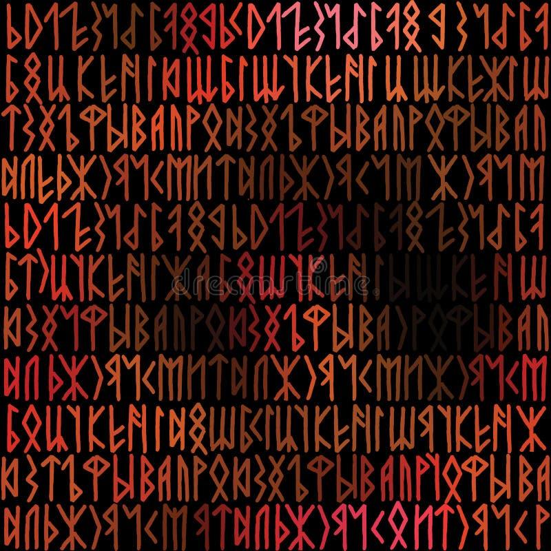Runenhintergrund vektor abbildung