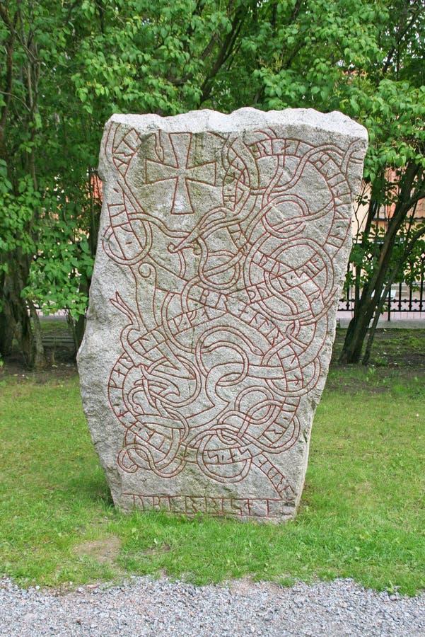 Runenstein, Schweden stockbilder
