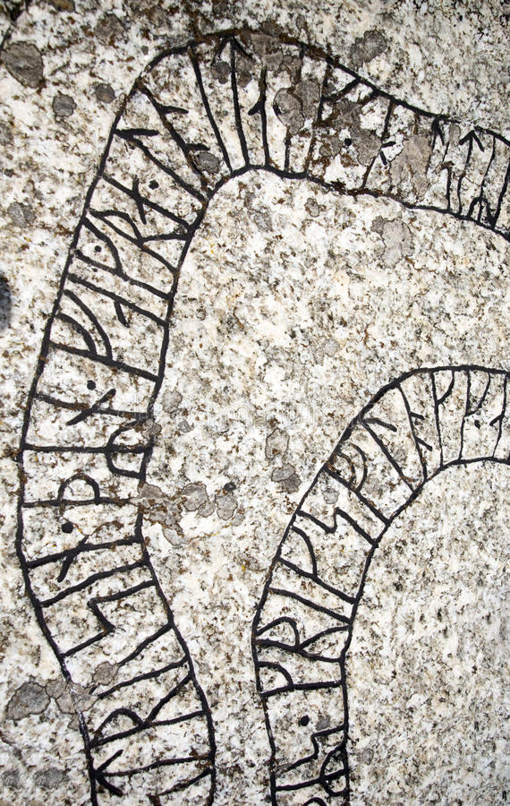 runes fotografia stock