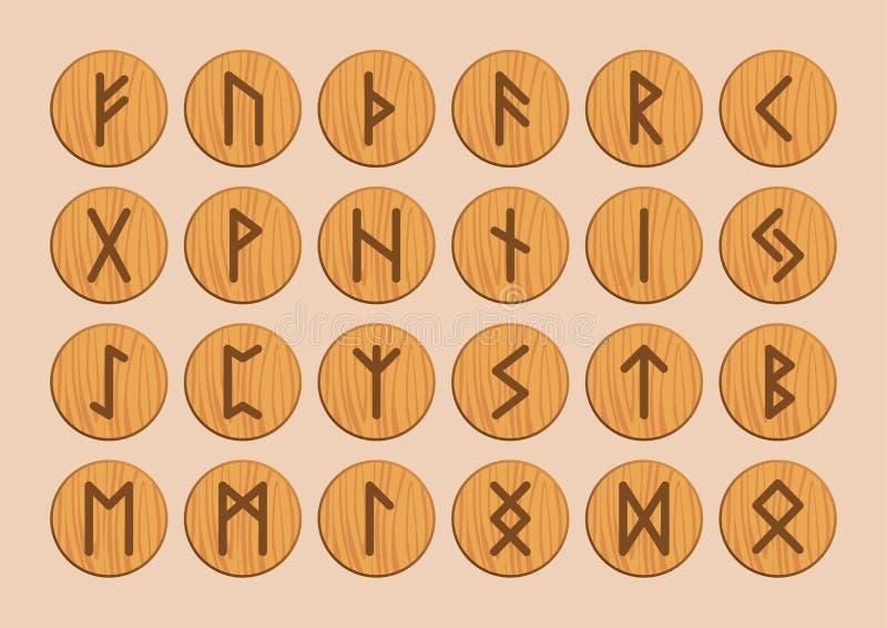 runes Alfabeto rúnico del vector Los nórdises viejos, escandinavo, islandés libre illustration
