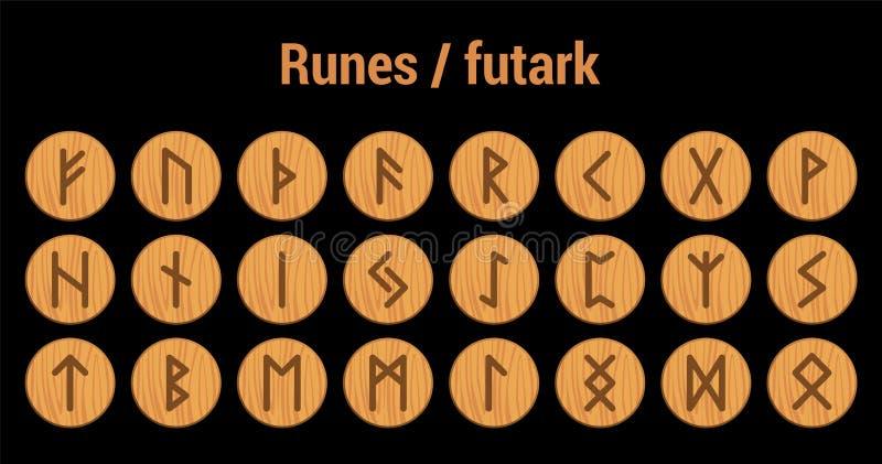 runes Alfabeto rúnico del vector Los nórdises viejos, escandinavo, islandés ilustración del vector