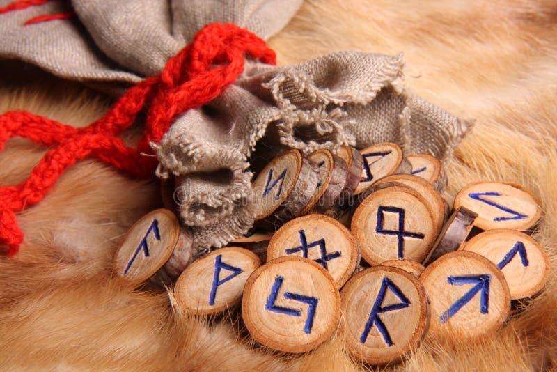 Runes close-up stock photography