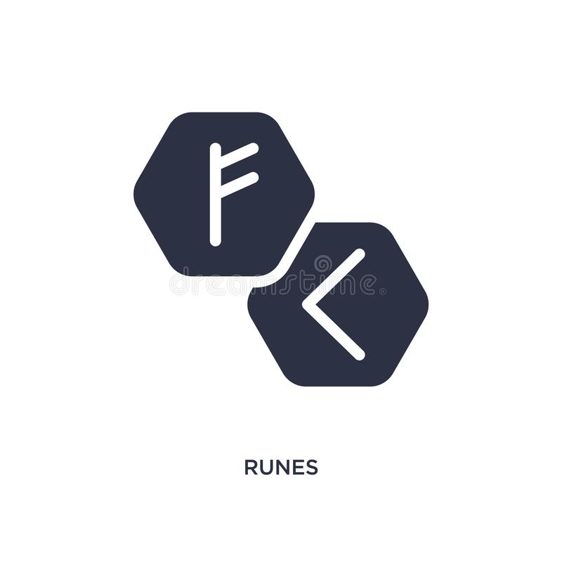 runes icon on white background. Simple element illustration from magic concept royalty free illustration