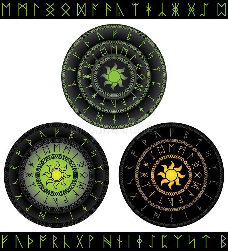 Runes mágicos ilustração stock