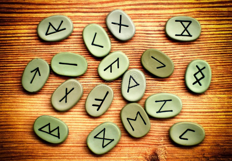 Runes imagens de stock