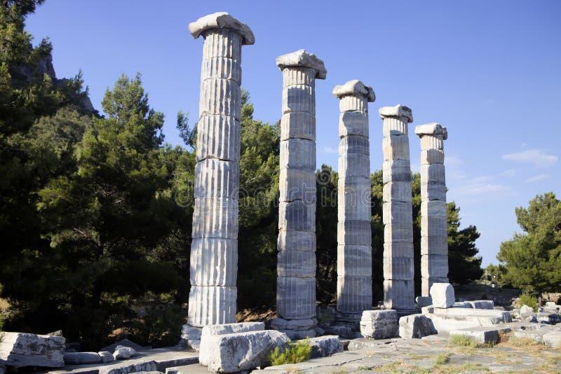 Runes Priene świątynia 4th wiek temu A M zdjęcia stock