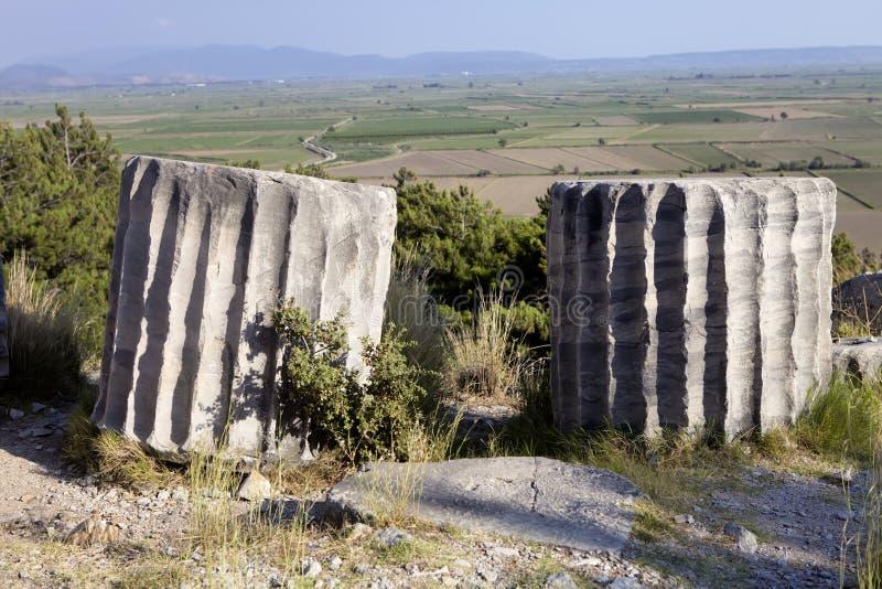 Runes Priene świątynia 4th wiek temu A M zdjęcia royalty free