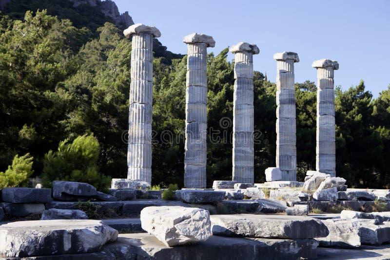Runes Priene świątynia 4th wiek temu A M fotografia royalty free