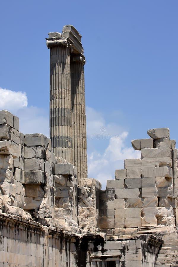 Runes Priene świątynia 4th wiek temu A M obrazy stock