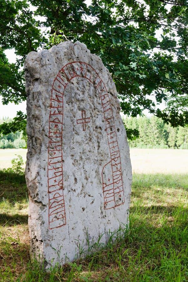 Runestein lizenzfreies stockfoto