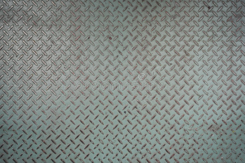 Runge pattern style of checker plate steel floor as background stock photography