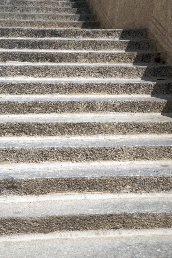 Rungs of stone stairs royalty free stock photo