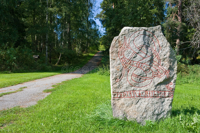 runiczny kamień zdjęcia stock