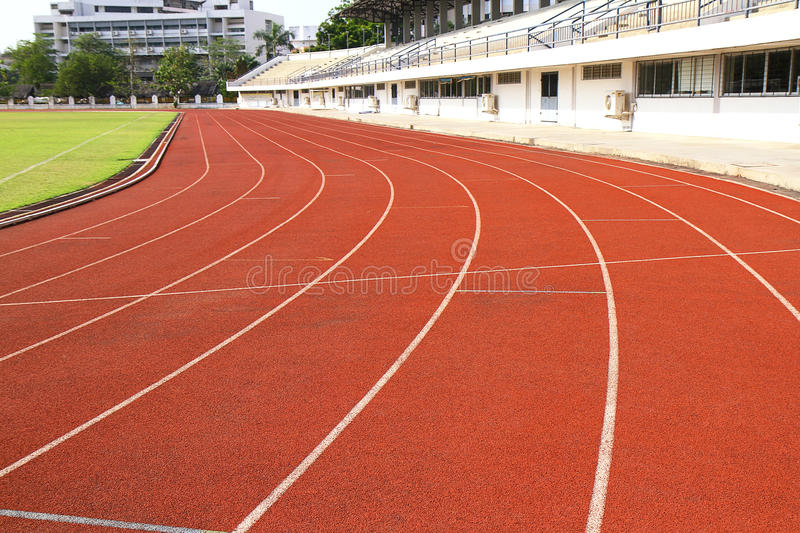 Runing Track Curve Stock Images