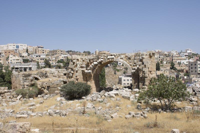 Runis de Jerash em Jordânia foto de stock