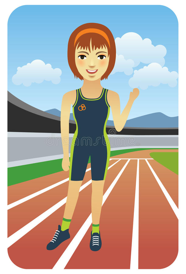 Runner stock illustration