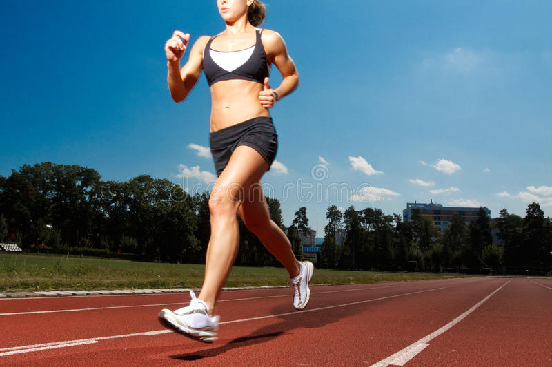 Download Runner stock photo. Image of athletic, compete, blue - 10671160