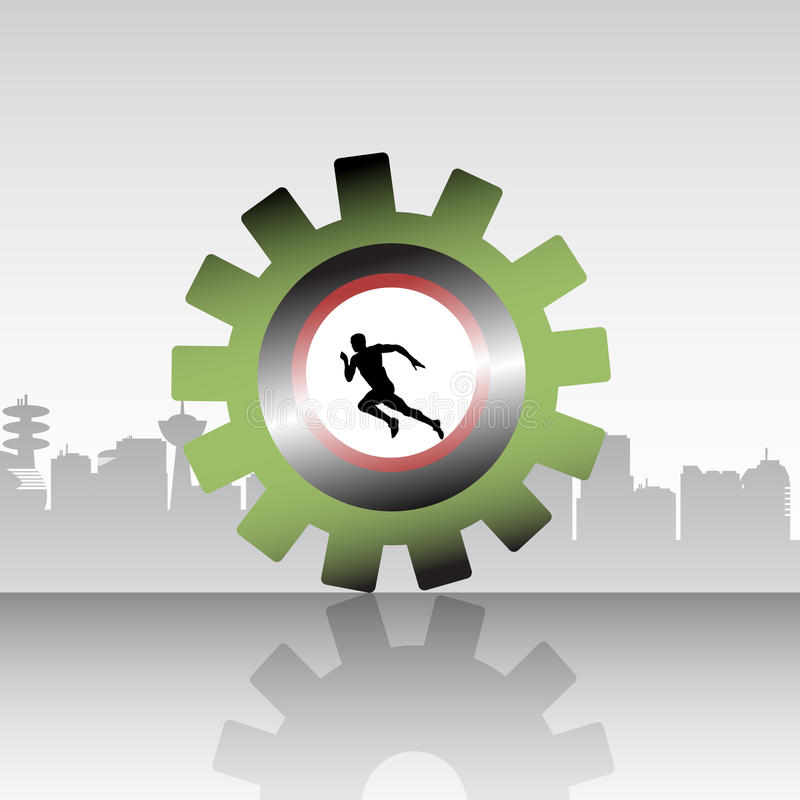 The runner stock illustration