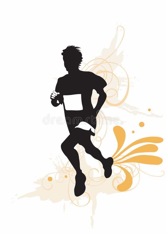 Download Runner stock vector. Image of recreation, sport, silhouette - 5004761