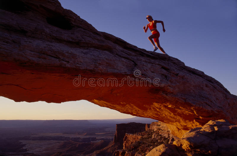Runner On Arch Stock Photos