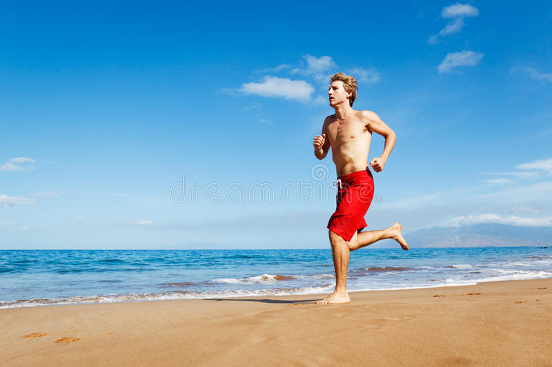 Download Runner on Beach stock photo. Image of colour, healthy - 24448506