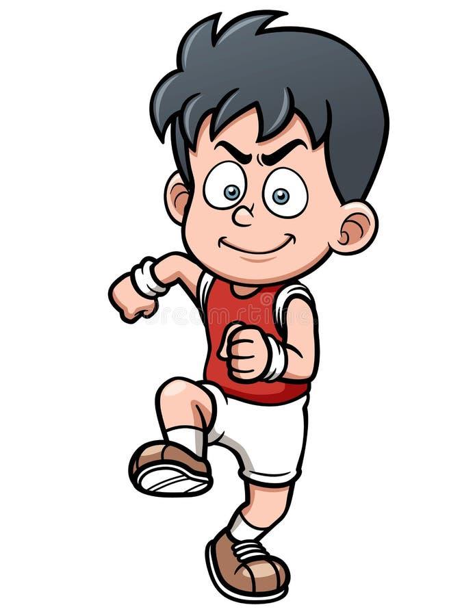 Download Runner boy stock vector. Image of runner, pose, cartoon - 31653827