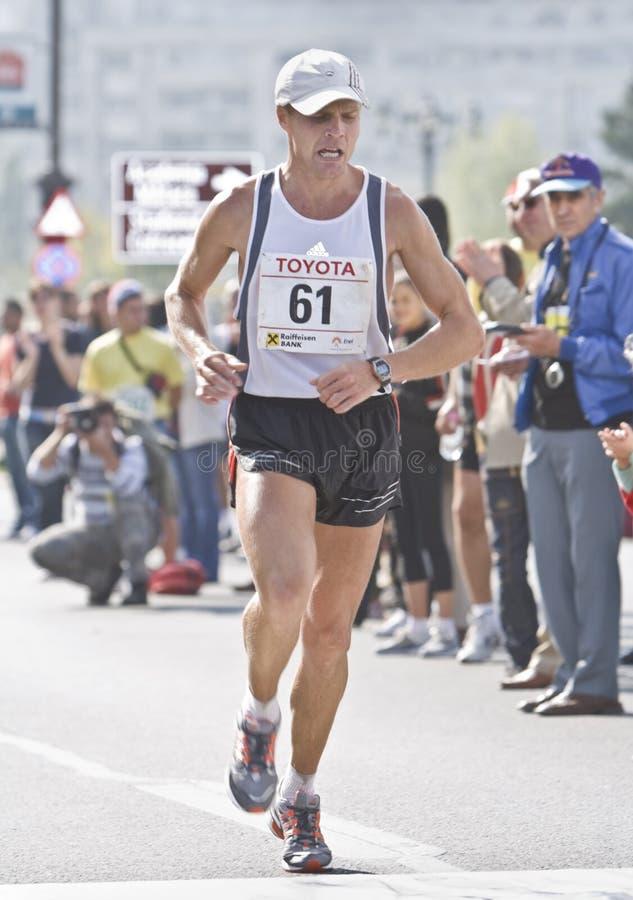 Runner-Bucharest International Marathom 2008 royalty free stock photos