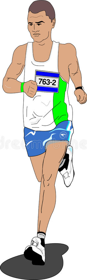 Download Runner in competition stock vector. Illustration of runners - 25807029