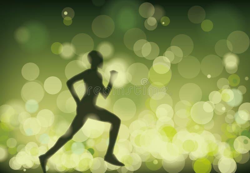 Runner. Defocused light wave shiny illustration vector royalty free illustration