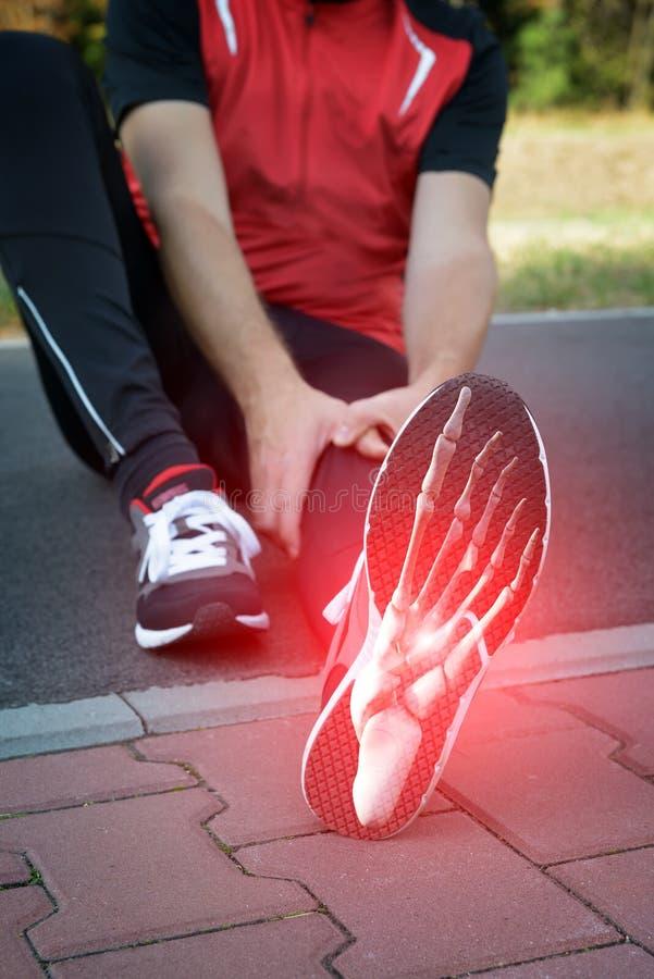 Runner foot stock photo