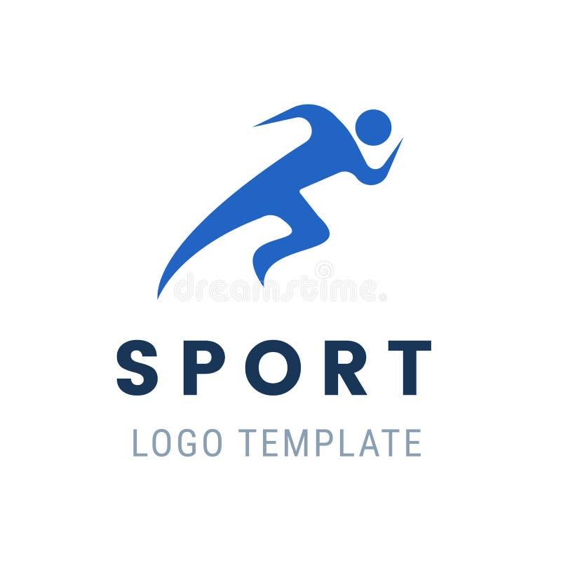 Runner logo. Fast abstract running man. Vector illustration stylized athlete figure. Running man logo. Fast simple stylized athlete figure. Vector illustration royalty free illustration