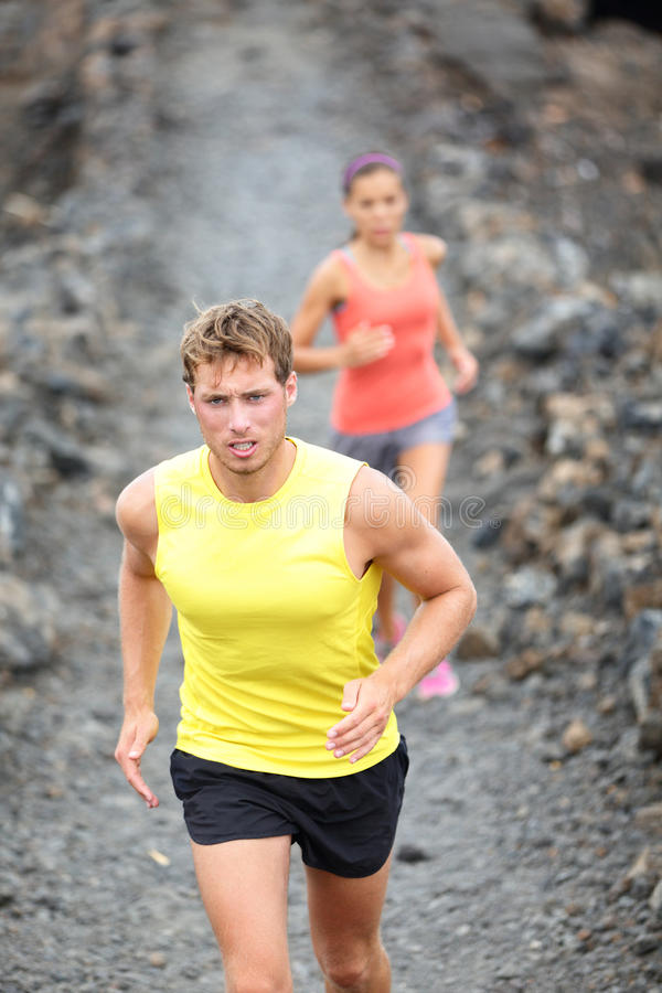 Download Runner Man Running On Trail In Cross-country Royalty Free Stock Photos - Image: 31351488