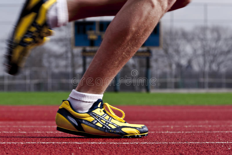 Runner In Motion royalty free stock photos