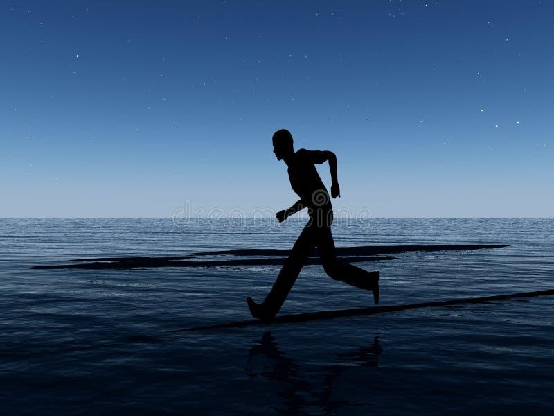 Download Runner At Night stock illustration. Image of oceanic, legs - 7702122
