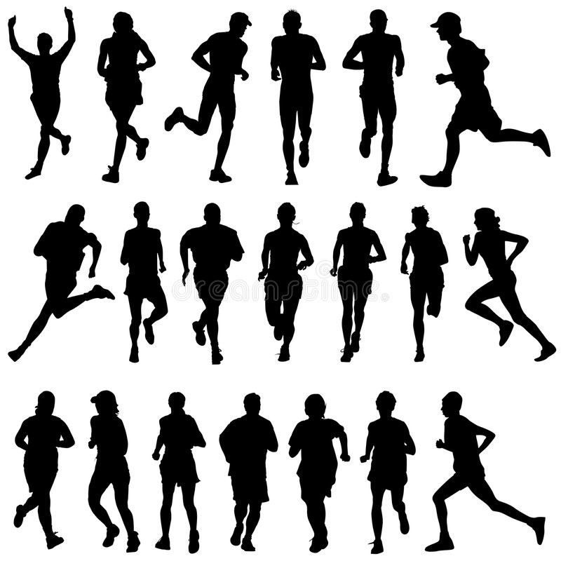 Free Runner Peoples Vector Royalty Free Stock Photos - 9349248