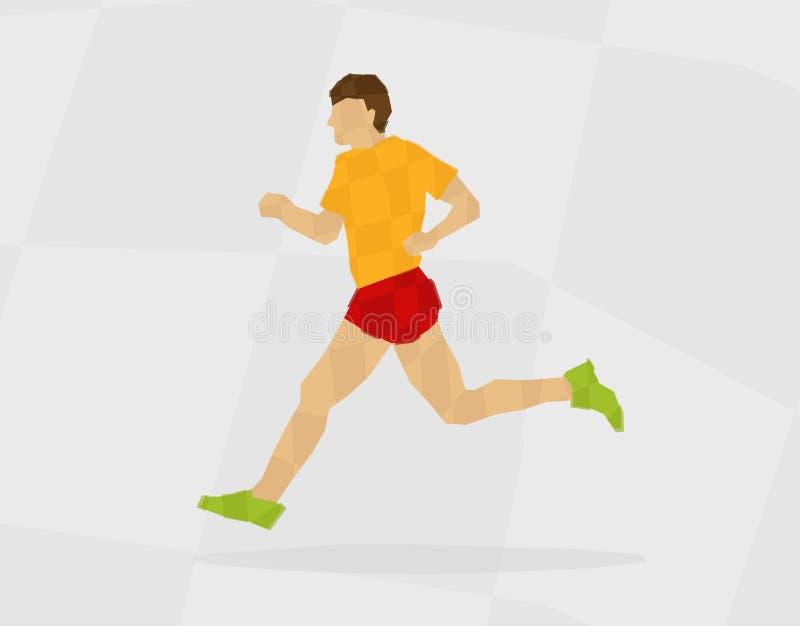 Download Runner polygon stock vector. Image of adult, marathon - 32623003