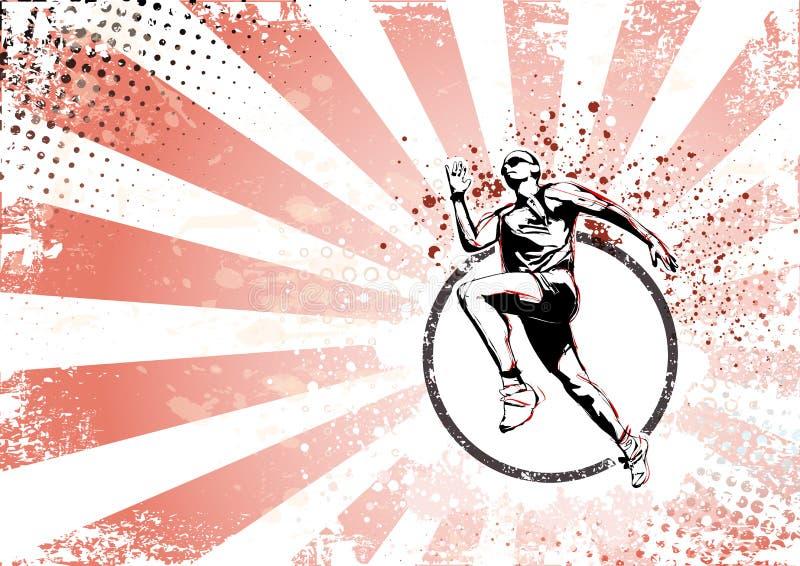 Runner retro poster background royalty free illustration