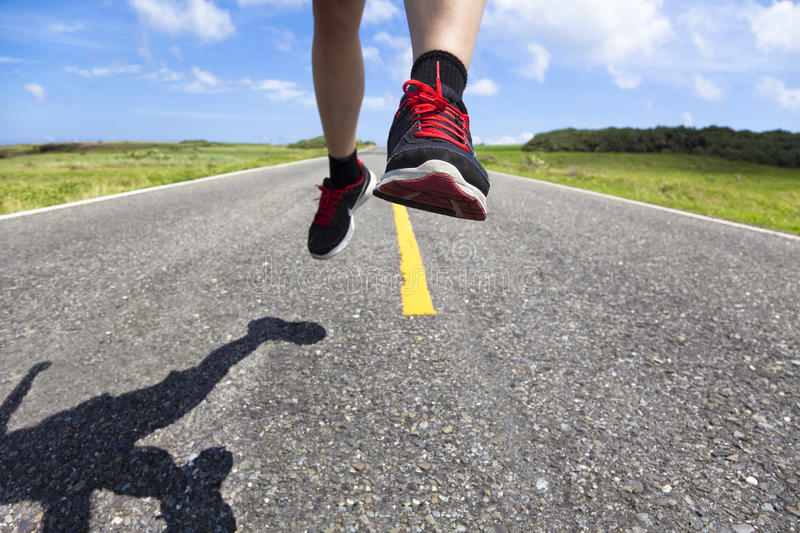 Download Runner on the road stock image. Image of person, outside - 24621967