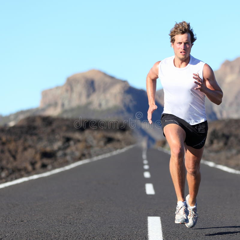Free Runner Running For Marathon Stock Photo - 20931790