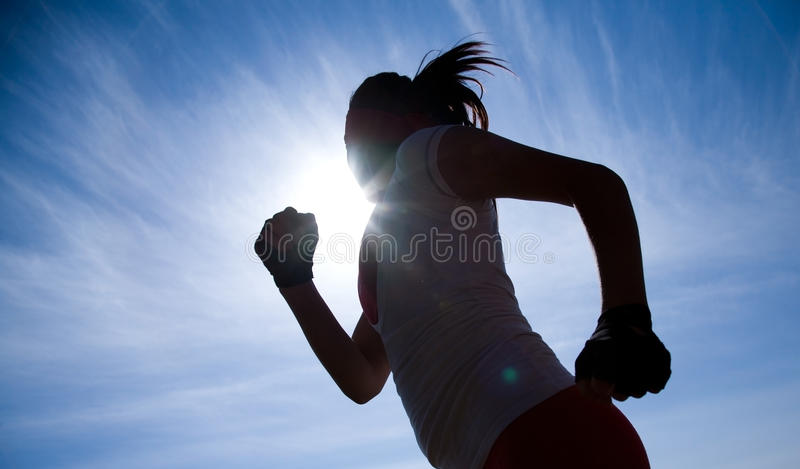 Runner silhouette stock images