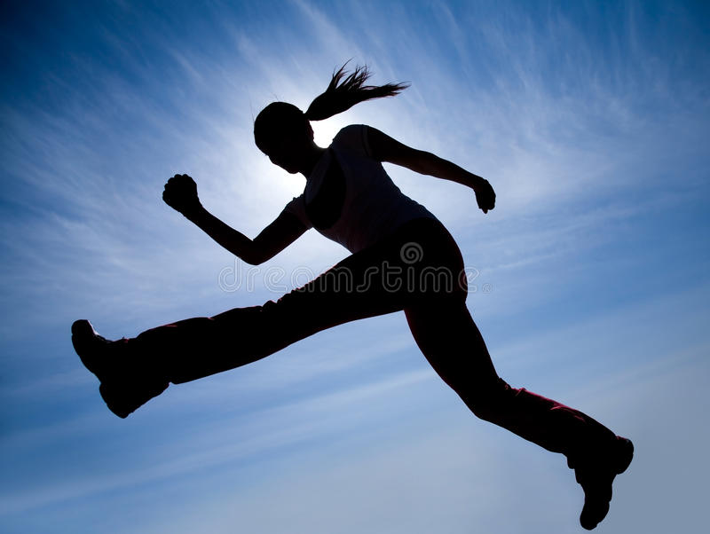 Runner silhouette stock photography