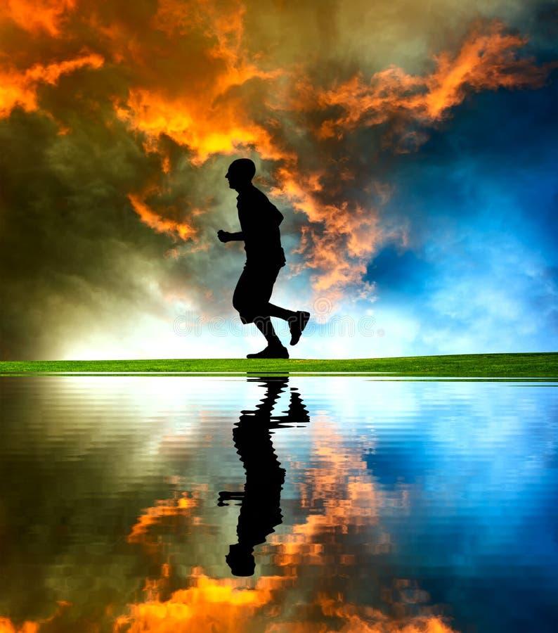 Runner silhouette stock photo