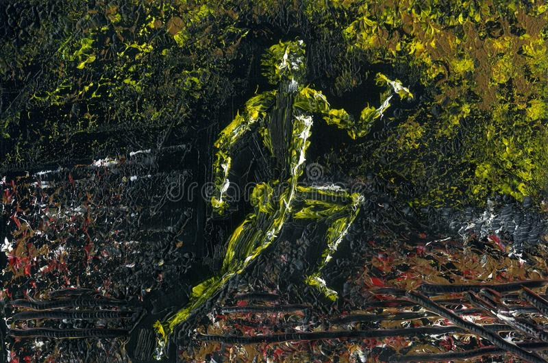 Runner Sprinter during the finish stock illustration
