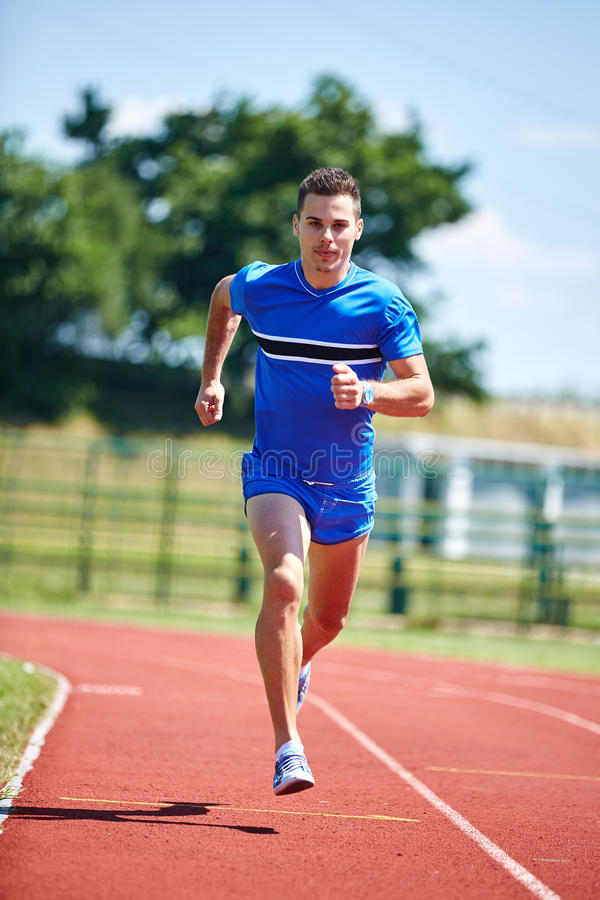 Runner sprinting royalty free stock photography