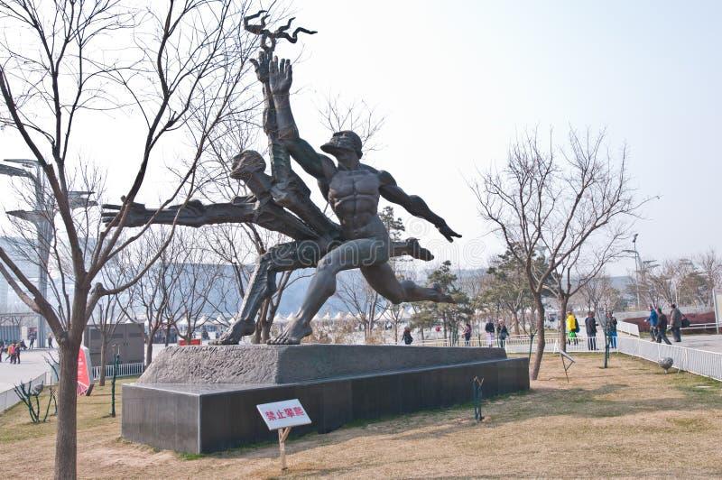 Runner statue stock images