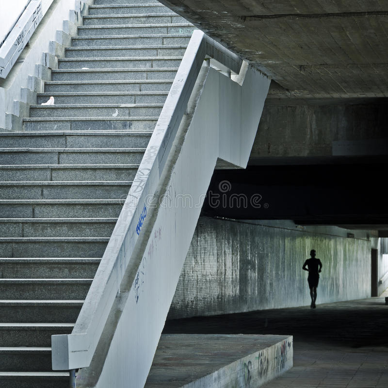 Runner In Underground Royalty Free Stock Photography