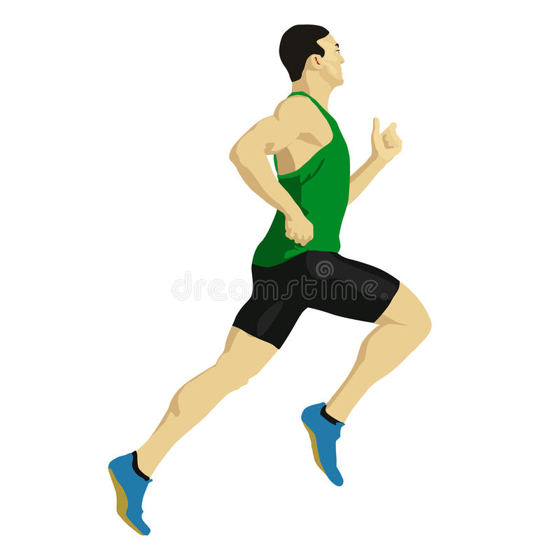 Runner vector drawing stock illustration