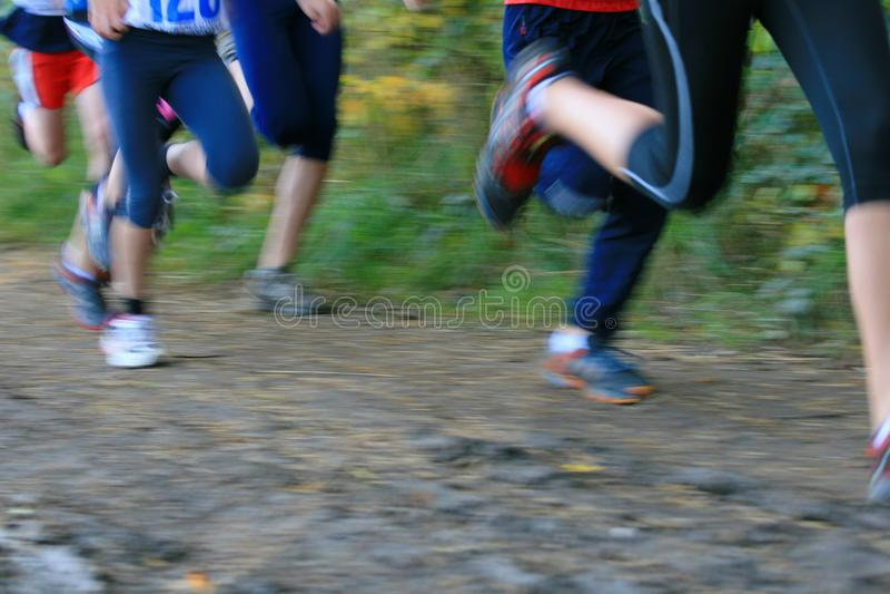 Runners stock image