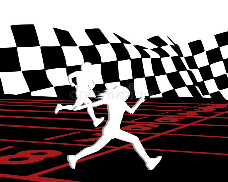 Download Runners 2 stock illustration. Image of happy, action - 21381798